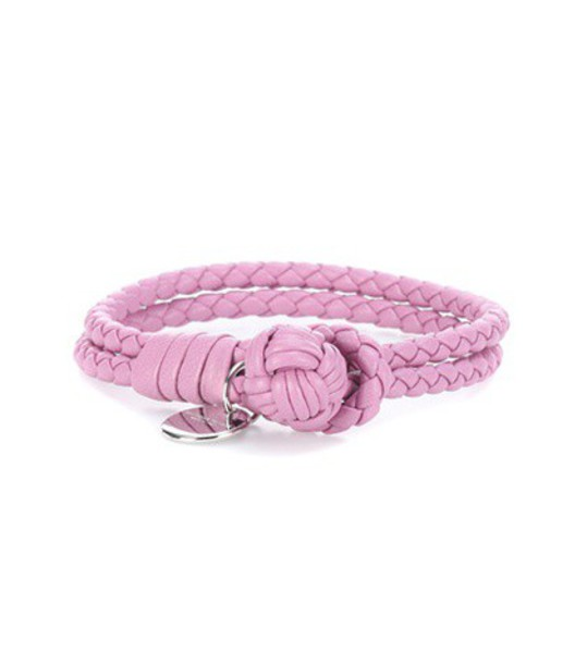 Bottega Veneta leather pink jewels