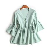 dress,high waisted,cierra ramierez,tie front,side split