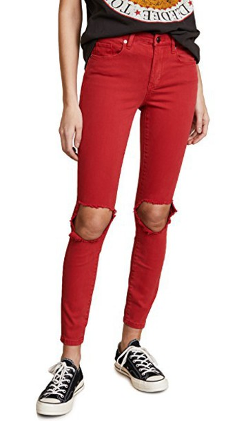 jeans red