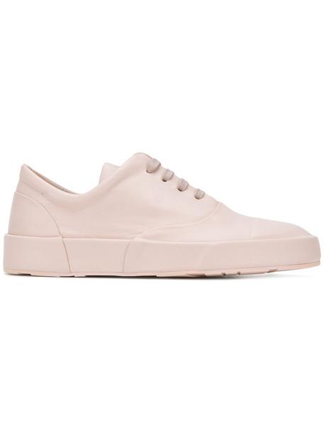 Jil Sander women sneakers lace leather purple pink shoes