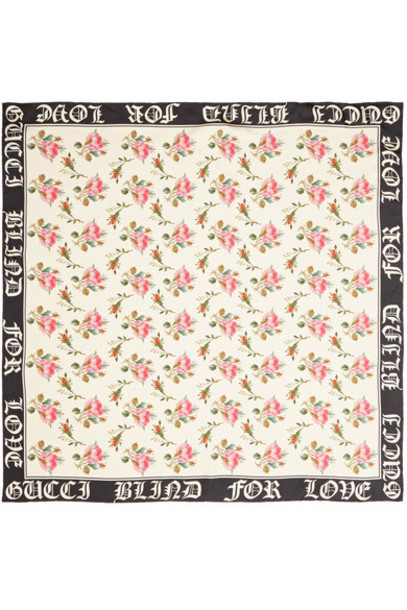 gucci scarf floral print silk