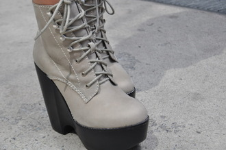 high heels grey shoes boots ankle boots jeffrey campbell