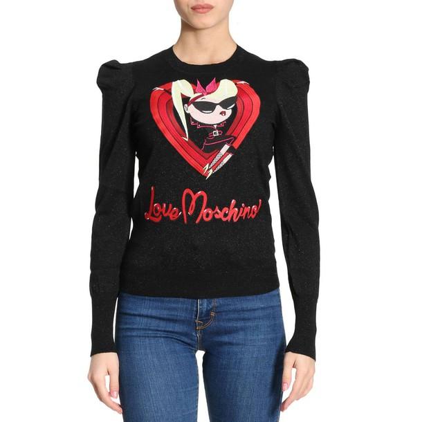 sweater women love black