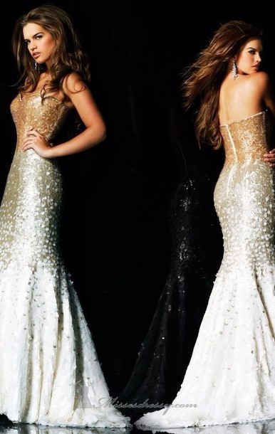 Dress Glitter Dress Prom Dress Sherri Hill Gold Dress