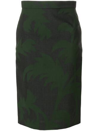 skirt pencil skirt women print wool grey