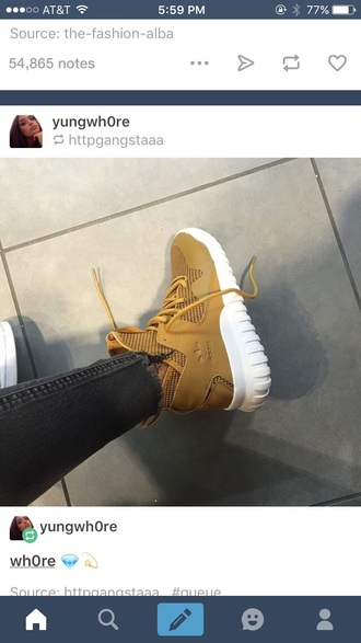 shoes yellow tumblr instagram brown adidas adidas shoes