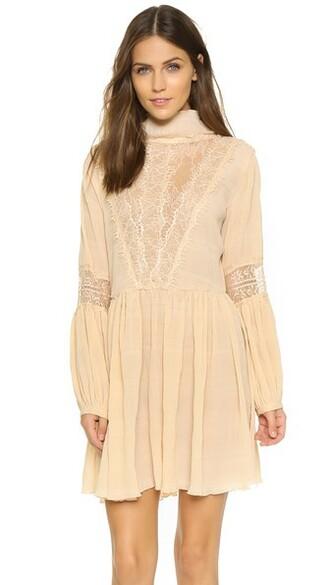 dress mini dress mini lace cream