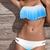 Blue and White Tassel Bikini Swimsuit Set (twp piece) #007 from Whitelily Fashion on Storenvy