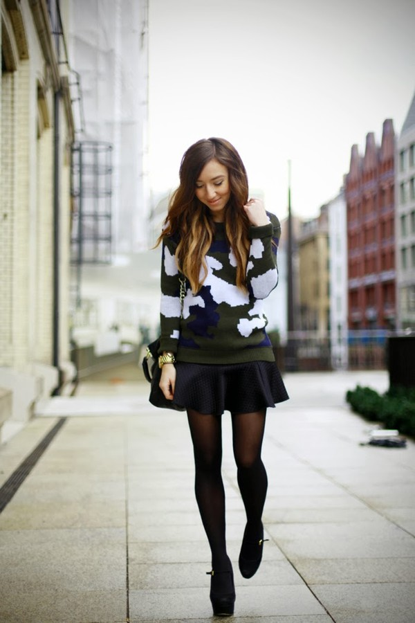 flirting with fashion sweater skirt shoes