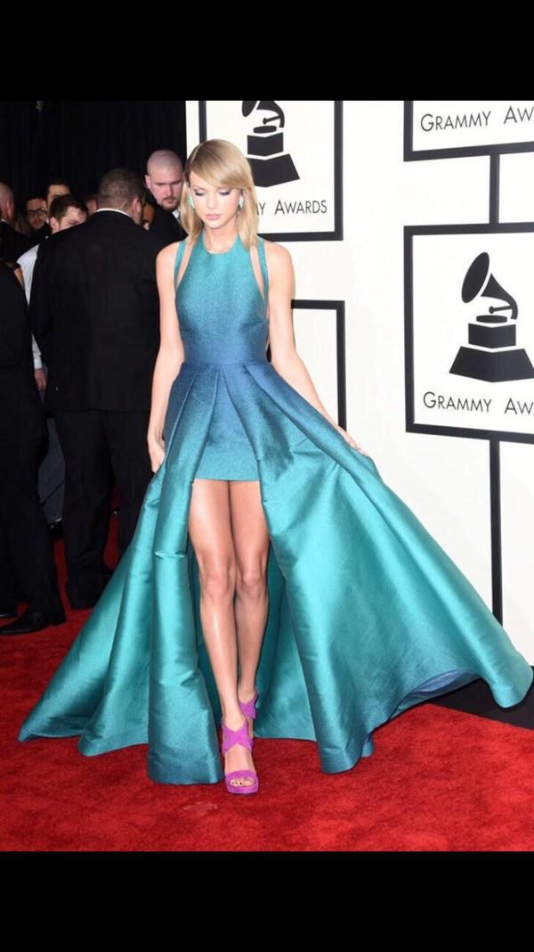 dress taylor swift grammys trendy blue dress prom dress grammys 2015 shoes