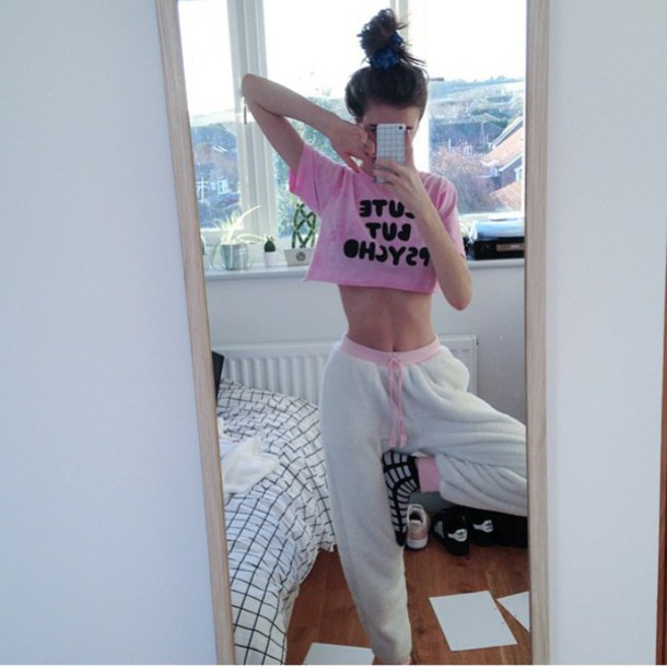 pants soft cozy shirt belt top crop tops instagram pink white
