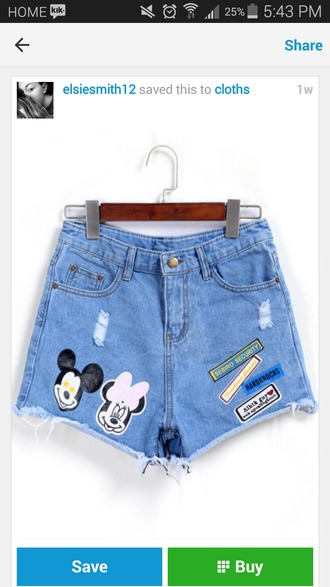 shorts minny mouse high waisted shorts