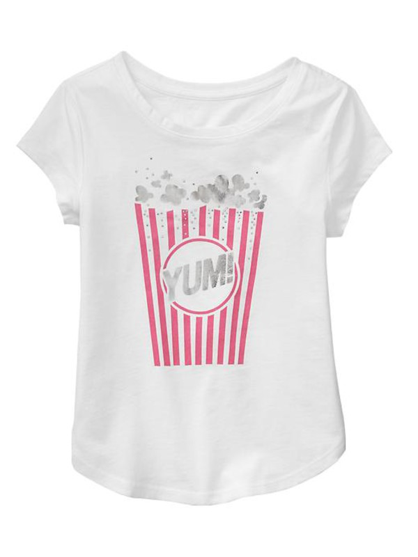 gap embellished graphic tee off-white girls tops 940684002 top
