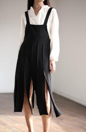 dress slit dress black dress