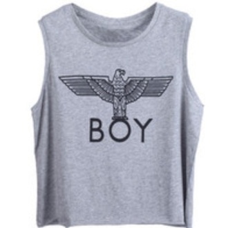 tank top top grey hipster boy boy london