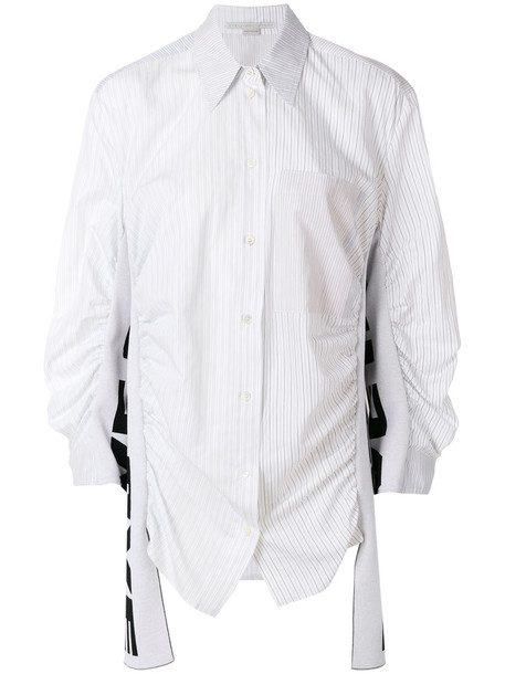 Stella McCartney shirt women love white cotton silk top