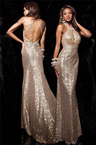 Paris 113728 sequined halter dress