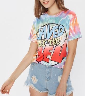 blouse girly colorblock t-shirt printed t-shirt print tv/movies tv show tie dye tie dye shirt