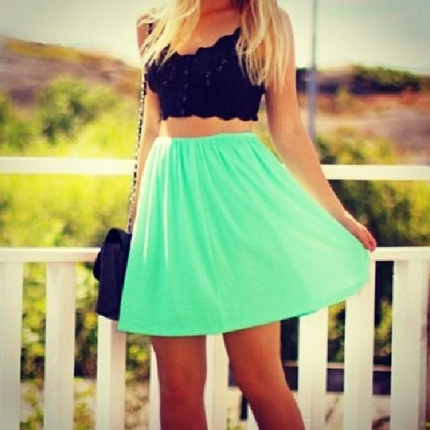 skirt tank top