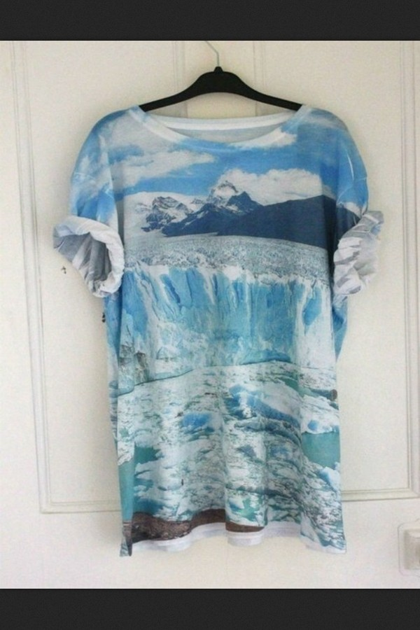 shirt t-shirt ice winter outfits cold breeze hipster oversized blue pale