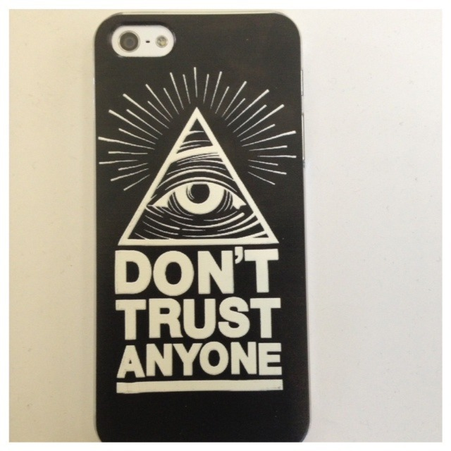 Don't Trust Anyone IPhone 5 Case / HighVoltageCases