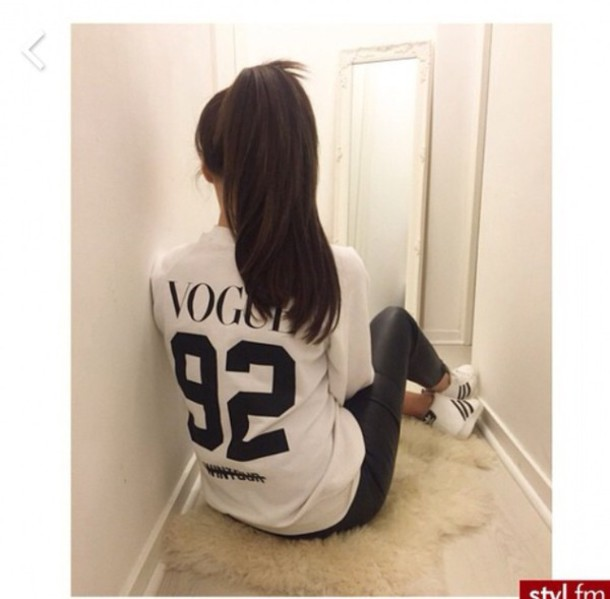 top vogue white t-shirt