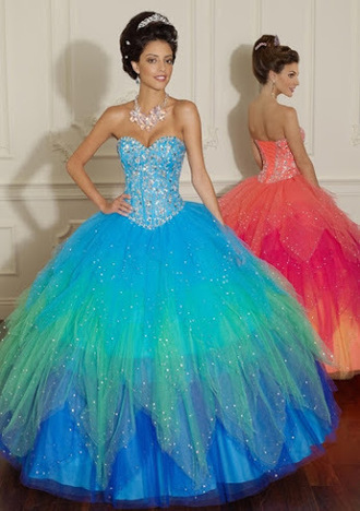dress quinceanera dress ball gown dress prom gown