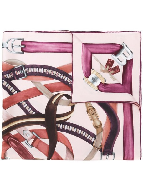 Bally scarf print purple pink