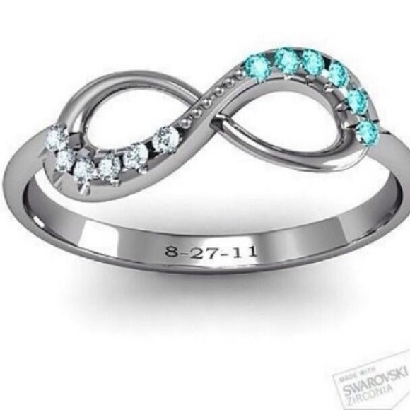 infinity jewels ring aqua