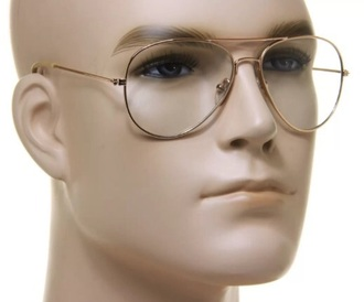 sunglasses clear lens with gold outline