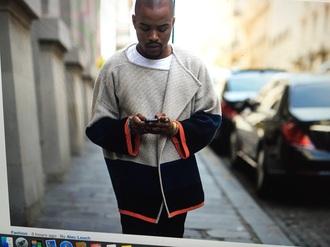 jacket sweater beige blue orage knitwear menswear streetwear streetstyle oversized oversized cardigan