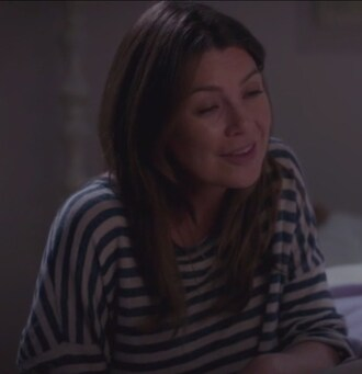 t-shirt meredith grey stripes ellen pompeo