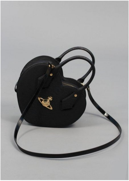 Vivienne Westwood Accessories Frilly Snake Heart Bag Black - Vivienne Westwood Accessories from Triads UK