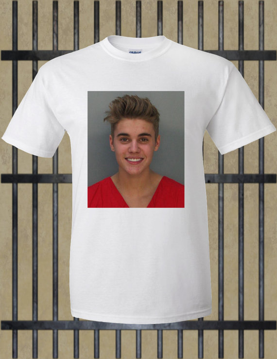 Justin Bieber Mugshot Sweatshirt January 2017