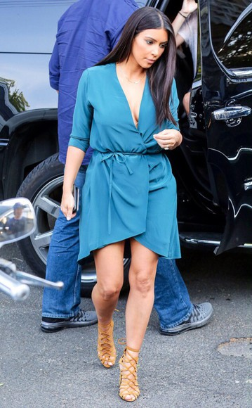 kim kardashian fashion kardashians clothes kim kardashian dress dress blue dress blue