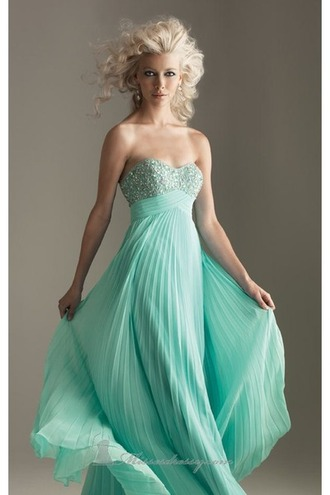 dress mint mint dress strapless sequins selena gomez prom dress prom prom night formal dress long prom dress robe de soirée