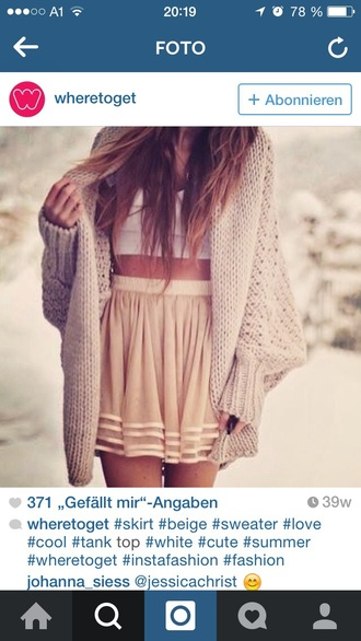 cardigan beige skirt bustier style summer outfits cute pretty girly spring natural colours wonderful top