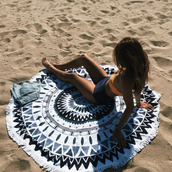 home accessory,bohemian,beach towel,blue