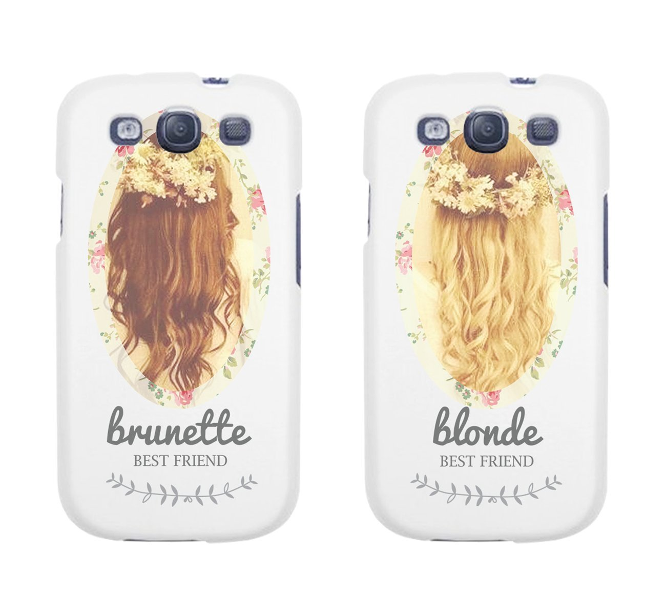 new styles 63f86 d7ac7 Amazon.com: Cute BFF Phone Cases - Brunette and Blonde Best Friends Phone  Covers for iphone 4, iphone 5, iphone 5C, iphone 6, iphone 6 plus, Galaxy  ...