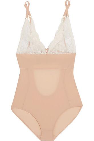 bodysuit rose lace underwear
