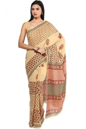 dress brown cotton saree womens cotton saree cotton saree shakumbhari