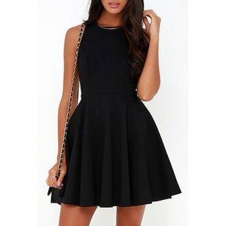 dress rose wholesale sleeveless black sleeveless dress skater dress party dress little black dress