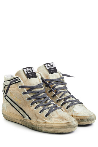 high sneakers beige shoes