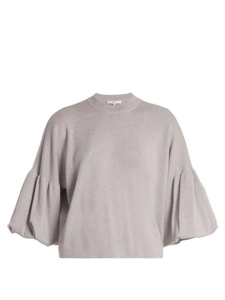 Tibi sweater wool sweater wool light grey
