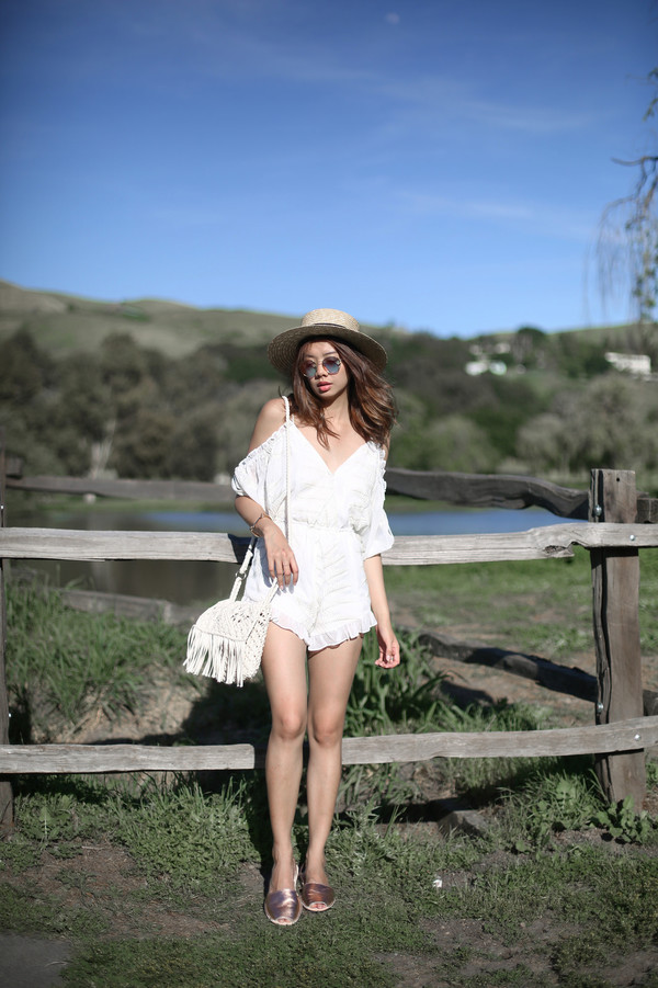 de034bbbb0f2 Lovers Friends Malia Romper in Ivory from Revolve.com