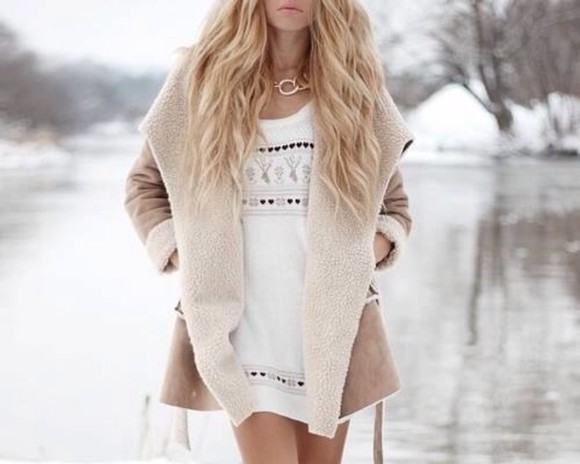 beautiful amazing classy jacket cream