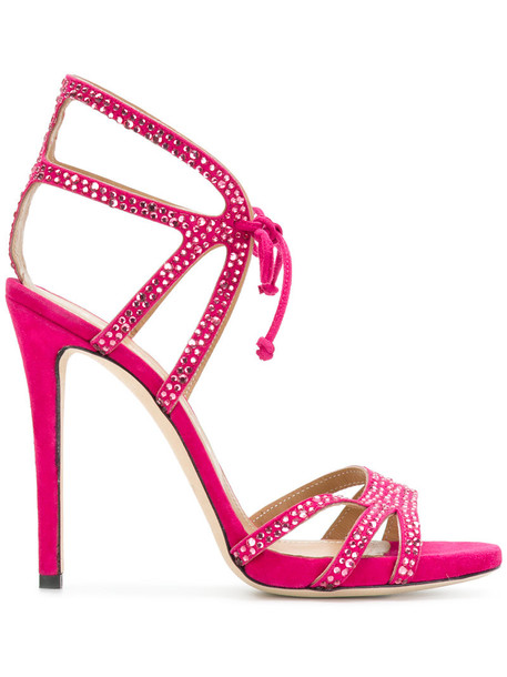 Marc Ellis strappy women embellished sandals strappy sandals leather purple pink shoes