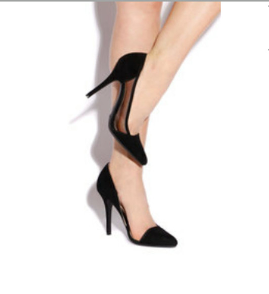 see through high heels sheer classic cut-out