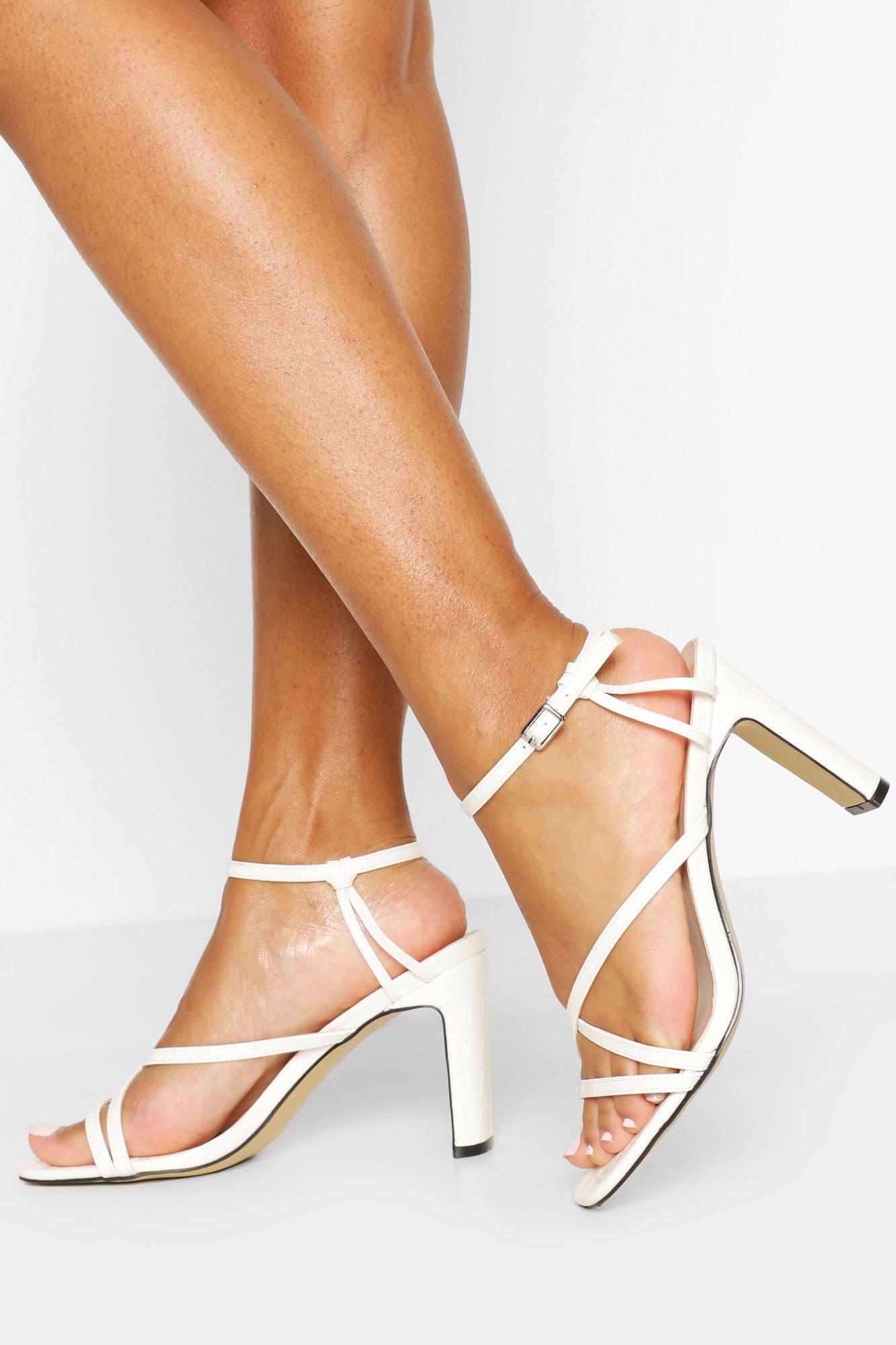 Strappy Flat Heel Sandals | Boohoo UK
