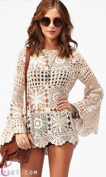 dress knit dress bag knit crop holey knit sweater white knit crop white dress